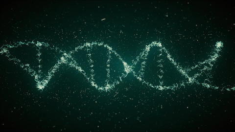 DNA Strand Looped 4K Animation