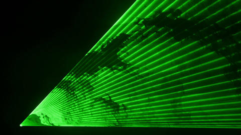 Video of green laser show in 4K Filmmaterial