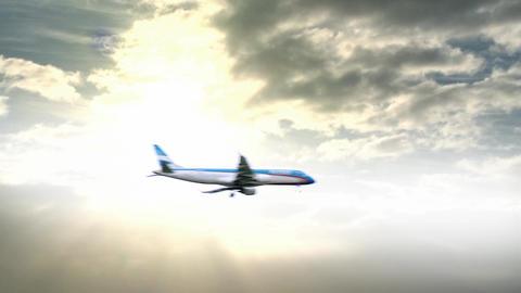 Plane Passing Through The Sky Footage
