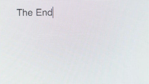 "The words ""The End"" being typed on a computer screen Footage"