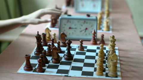 Active chess game Footage