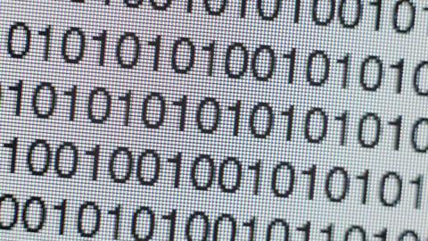 Binary code on a computer screen Footage