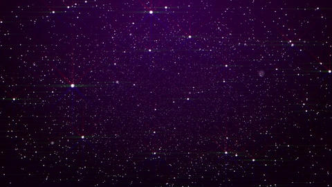 Flying Through Glowing Stars Stock Video Footage