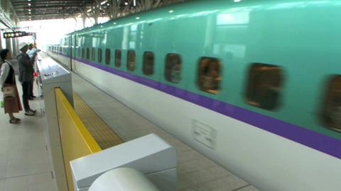 shinkansen bullet train Filmmaterial