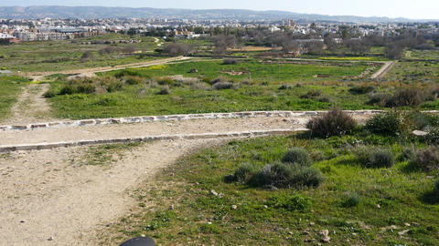 View of Paphos Archaeological Park in Cyprus Footage