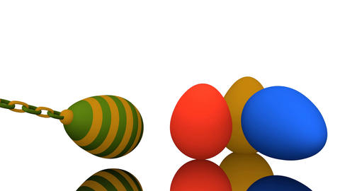 Colorful easter eggs CG動画素材