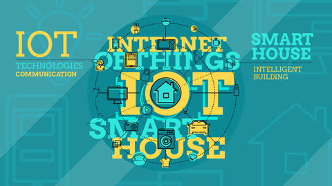 Internet Of Things And Smart Home Infographics After Effects Template