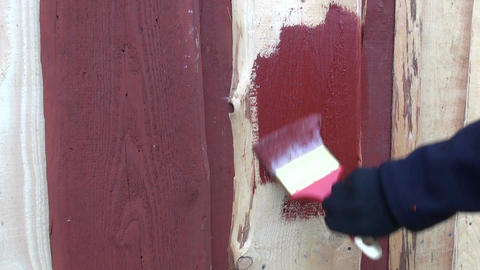 Painter painting house Footage