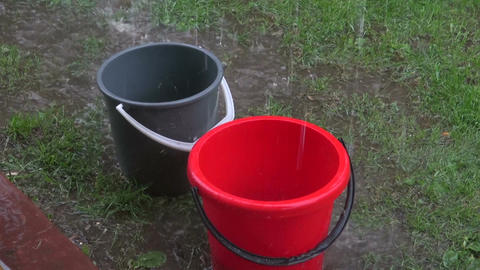 Rain falling in buckets Footage
