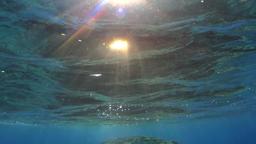 Sun rays underwater Footage