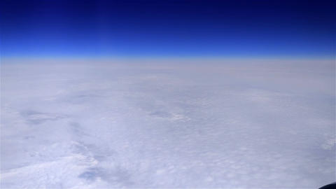 Over clouds Footage