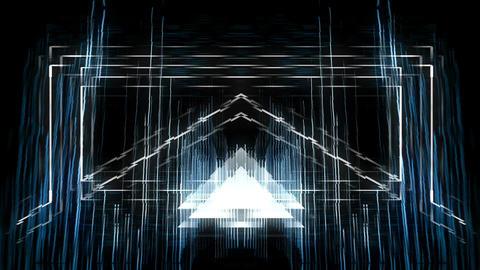 Backlines - Blue 60fps VJLoop LIMEART Footage