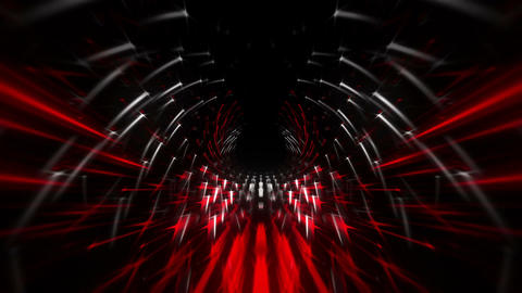 Tunnel Red Matrix 60fps VJLoop LIMEART Live Action