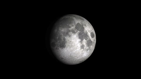 Phases of the Moon on a black background Animation