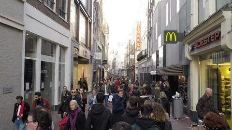 Amsterdam city street Live Action