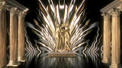 Gold Girls Statue VJ Loop LIMEART Footage