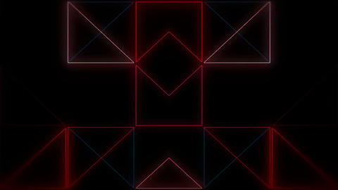 Neon Red Pattern 60fps VJLoop LIMEART Live Action