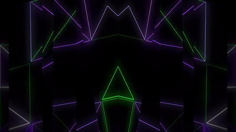 Neon Transformers Mirror LIMEART VJ Loop FullHD Footage