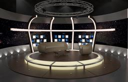 3d Virtual TV Studio Chat Set 20 3D Model
