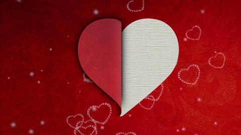 Half heart footage Animation
