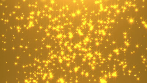Exploding golden particles Animation
