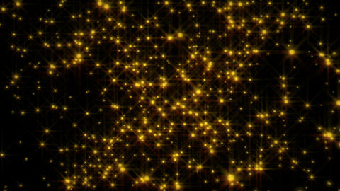 [Black background] Exploding golden particles Animation
