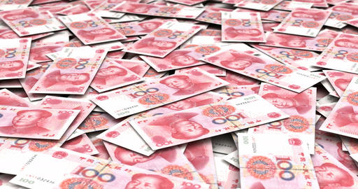 Stack of Chinese Yuan Animation