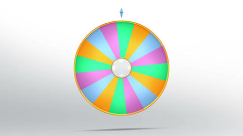 Lucky wheel fortune sixteen color 4K Animation