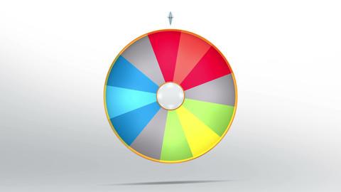 Lucky wheel fortune twelve 4K Animation
