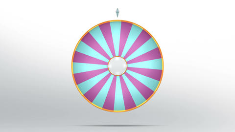 Lucky wheel fortune twenty four color 4K Animation