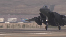 F-15E Eagle landing at Red Flag Footage