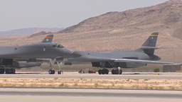 B-1 bomber taxis out at Red Flag Footage
