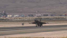 F-16C Fighting falcon jet fighter lands at Red Flag Footage