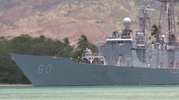 United States ship Rodney M. Davis (FFG 60) RIMPAC ship depart for sea phase Footage