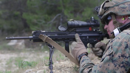 Marines and French Foreign Legionnaires on the range Footage