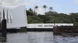 Footage of the USS Arizona Memorial Footage