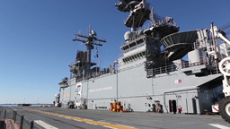 Footage of the USS Kearsarge (LHD-3) as it sits in its home por Footage