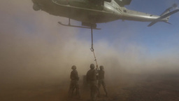 UH-1 Huey helicopter External Lift Footage