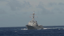 USS Sterett (DDG 104) Conducts Maritime Operations Footage