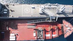 The Navy's first Mobile Landing Platform (MLP) Footage