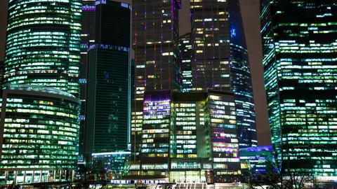 Night lights of the big city Footage