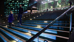 Stairs to the business centers Filmmaterial