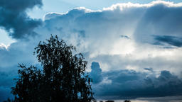 Massive clouds. Stormy weather. Epic clouds time lapse. Rain showers Footage