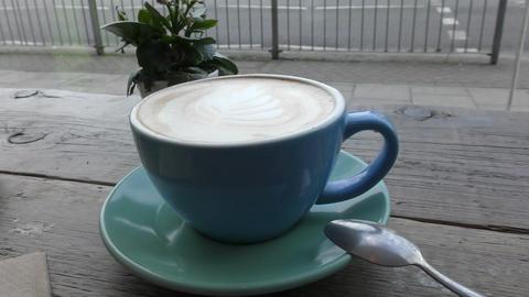 Latte - morning invigorating coffee Footage