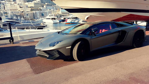 Luxury Lifestyle in Monaco Stock Video Footage