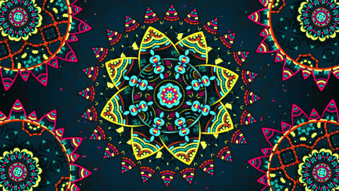 Flower Kaleido Background Loop Animation