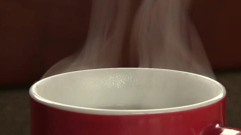 Cup Of Hot Water Footage