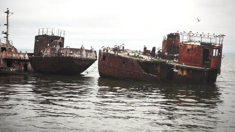 Old Abandoned Ships Footage