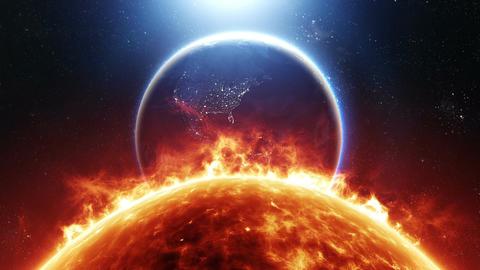 Sun And Earth Footage