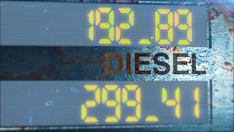 DIESEL and OIL and PETROL and ELECTRICITY counter Animation